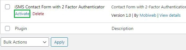 Install WordPress iSMS Contact Form Authenticator Plugin Philippines