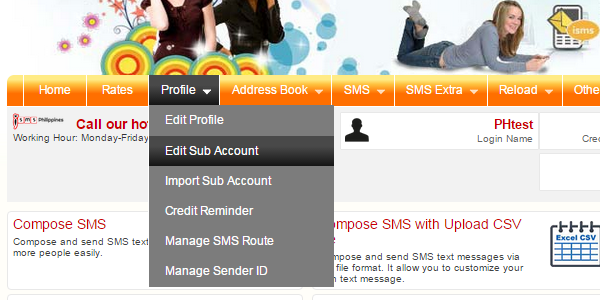 How to Create Sub Account in Bulk SMS Philippines
