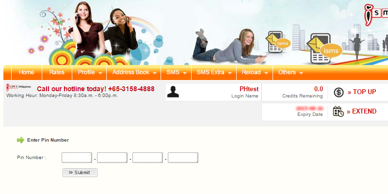 Reload Credit in Bulk SMS Philippines